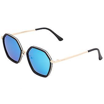 Bertha Ariana Polarized Sunglasses - Black/Blue