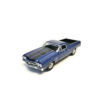 MotorMax American Classics - 1970 Chevy El Camino SS 396 Met Blue  1:24