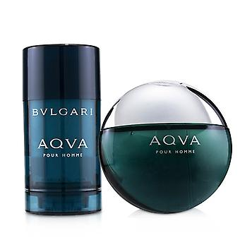 Bvlgari Aqva Pour Homme Coffret: Eau De Toilette Spray 100ml/3.4oz + Deodorant  Stick 75ml/2.7oz - 2pcs