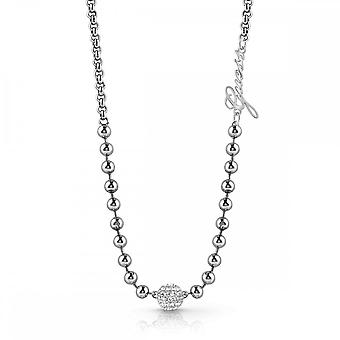 Guess Jewellery Guess Pave Bead And Chain Necklace UBN78049