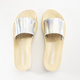 Rocket Dog Marko Ladies Metallic Mule Flip Flops Crystal