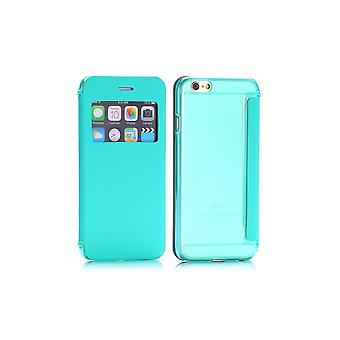 Turquoise Flip Case - Back Shell With Window For Apple IPhone 6 4.7