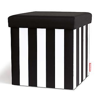 Remember Sitzbox Black&White x 38 x 38 x 38 cm