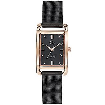 Watch Go Girl Only 695167 - Milanese Steel Bracelet Black Rectangular Case Dor Rose Women