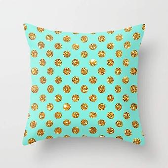 Chic gold glitter polka dots pattern cushion/pillow