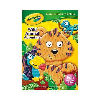 Crayola Wild Animal Adventure Bumper Colouring Book