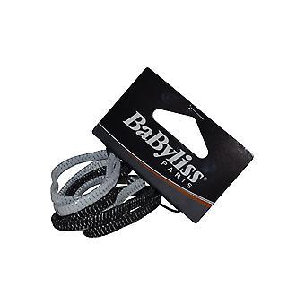 Babyliss PRO: haar elastiek Pack van 6 zwart & wit