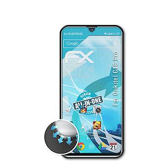 atFoliX 3x Protective Film compatible with Oukitel C16 Pro Screen Protector clear&flexible
