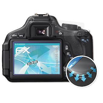 atFoliX 3x Schutzfolie kompatibel mit Canon EOS 60D Folie klar&flexibel