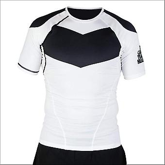 Hyperfly procomp supreme short sleeve rash guard white/black