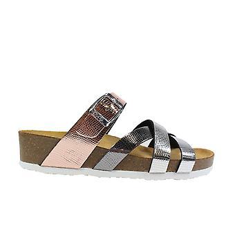 Ara Bali 17272-11 Silver/Grey Womens Slip On Mule Sandals