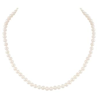 Eternal Collection Pure Pearls 20 Inch 6-7mm AAA White Freshwater Pearl Necklace