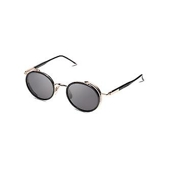 Thom Browne TBS813 01 Black-White Gold/Grey Sunglasses