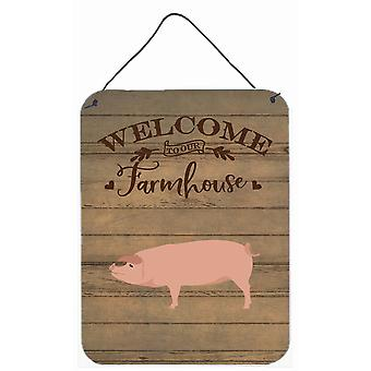 American Landrace Pig Welcome Wall or Door Hanging Prints