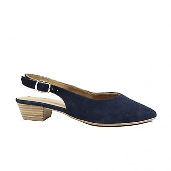 Tamaris 29405 Navy Suede Leather Womens Sling Back Shoes