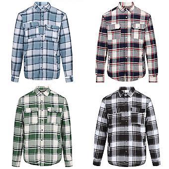 Regatta Mens Tygo Long Sleeved Checked Lined Shirt