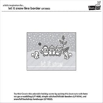 Lawn Fawn Let It Snow Line Border Die