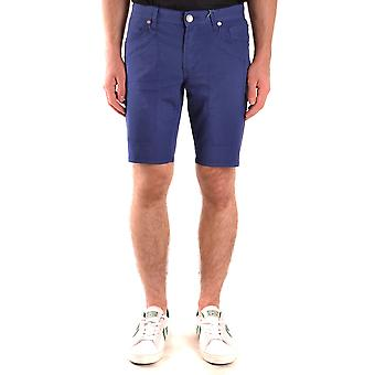 Jeckerson Ezbc069042 Men's Blue Cotton Shorts