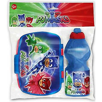 Set canteen and Snack Holder Super Pyjamas Pj Masks