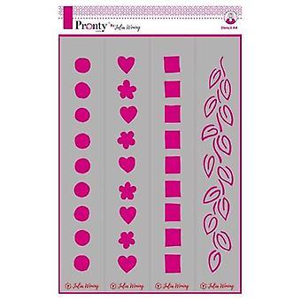 Pronty Stencil Boarders 470.765.002 A4 Julia Woning
