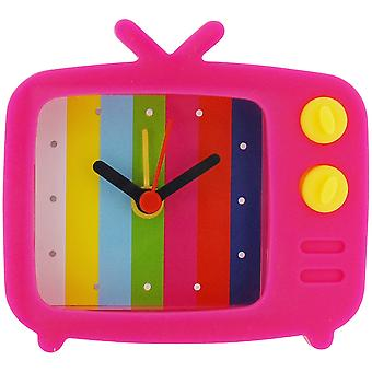 The Olivia Collection Pink Novelty Silicone Alarm Clock TV Style & Test Picture