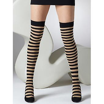 Gipsy Striped Over The Knee Socks