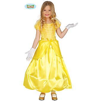 Children's costumes Children Yellow Princess dress for girls