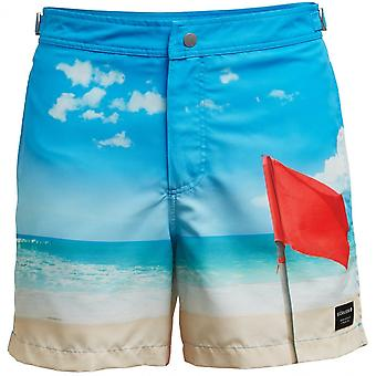 Bjorn Borg Red Flag Beach-to-Bar Tailored Swim Shorts, Blue