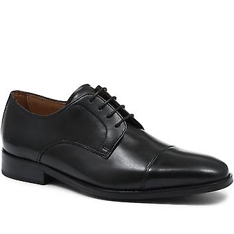 Jones Bootmaker Mens Wide-Fit Classic Leather Derby Shoe