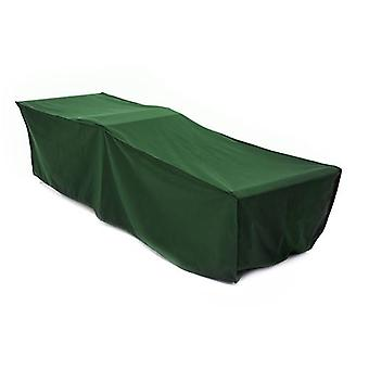 Gardenista GREEN Sun Lounger Outdoor Sunbed Cover in Premium Heavy Duty Waterproof Canvas. Fabricado no Reino Unido.