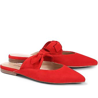 Jones 24-7 Pointed Flat Leather Mules