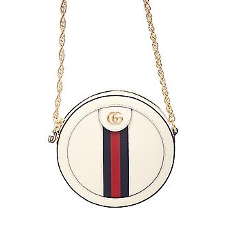 Gucci 550618cwg1g8454 Women's White Leather Shoulder Bag