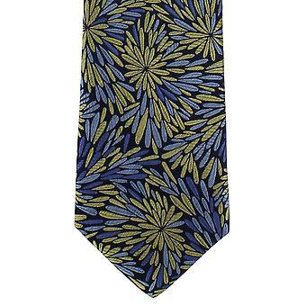 Paret av London Splash Floral silke slips - gul