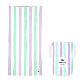 Dock & bay quick dry beach towel - summer - lavender fields