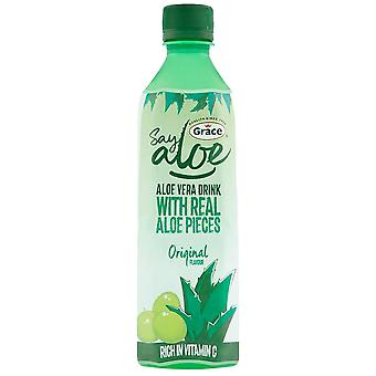 12 x 500ml Real Aloe Vera Pieces Bebida Jugo Vitamina C Mineral