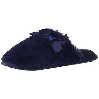 Dearfoams Women's Shoes Microfiber Velour Closed Toe Slip On Slippers