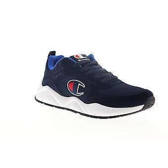 Champion 93 Arton Klassiska Mens Blue Mesh spets upp låg topp sneakers skor