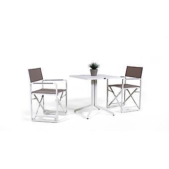 Alu Dining Group Sunset 2 - hvid