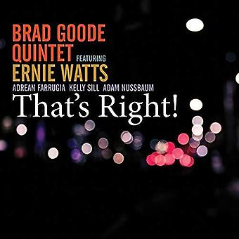 Brad Goode - That's Right [CD] USA import