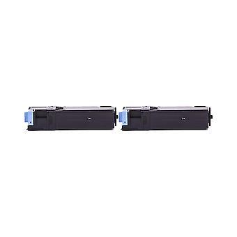 RudyTwos 2 x erstatning for Dell 593-10259 Toner enhet Cyan kompatibel med 1320C, 2130CN, 2135CN