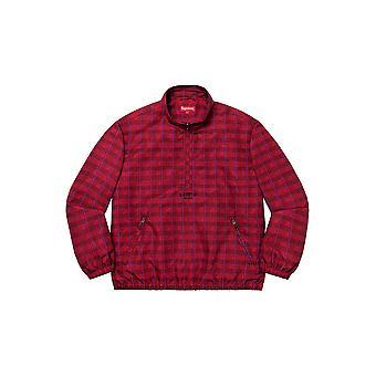 Supreme Track Half Zip Pullover (Ss20) Red Glen Plaid - Kleidung