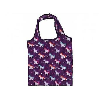 Enchanted Rainbow Unicorn Foldable Bag