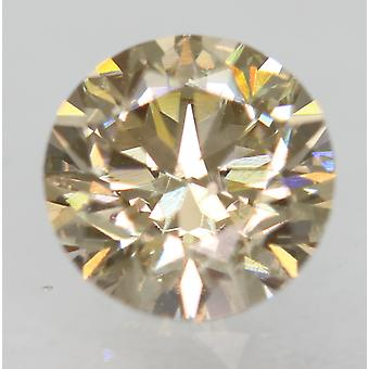 Cert 0.75 Carat Natural Fancy Brown VVS2 Round Brilliant Natural Diamond 5.7mm