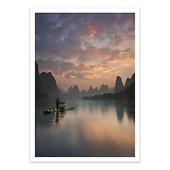 Art-Poster - Li River Sunrise - Yan Zhang 50 x 70 cm