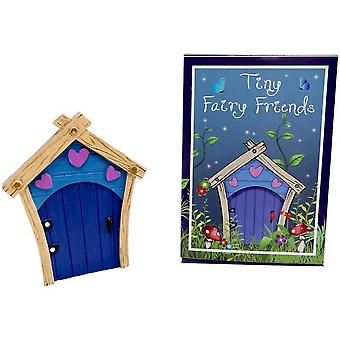 Something Different Blue Fairy Door With Purple Hearts