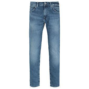 Edwin ED-85 Slim Tapered Drop Crotch Blue Tamiko Wash Denim Jeans