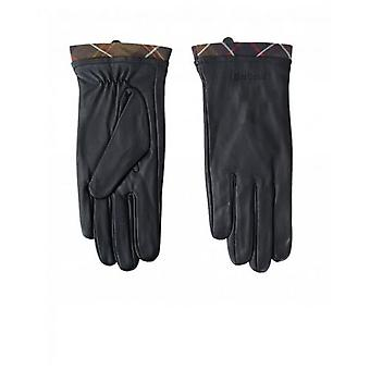 Barbour Tartan Trim Leather Gloves