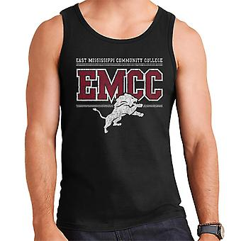 East Mississippi Community College Light Distressed Lion Logo Men's Vest