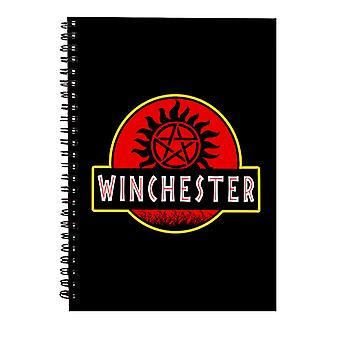 Cuaderno de espiral de Winchester de Parque Jurásico sobrenatural