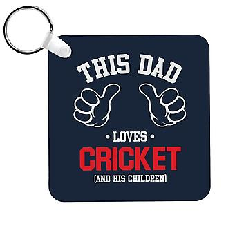 Ce papa aime le cricket et ses enfants Porte-clés